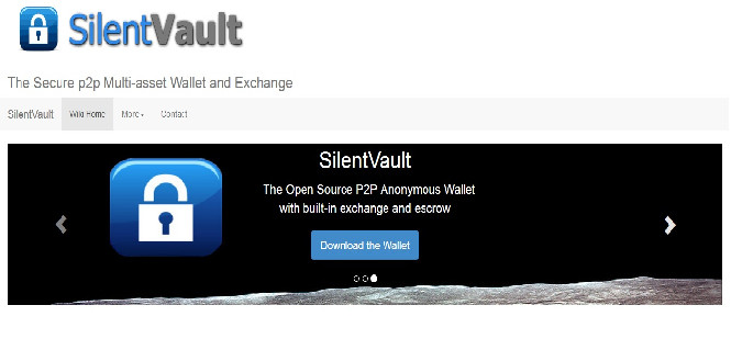 Screengrab of SilentVault web site